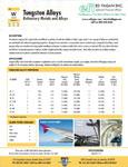 Tungsten Alloy Data Sheet