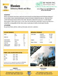 Rhenium refractory metal data sheet brochure